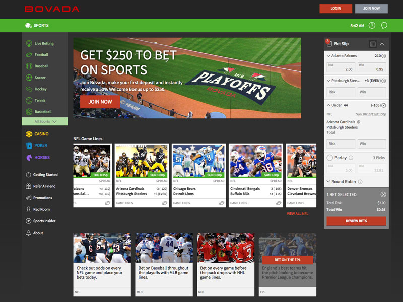 Bovada, Tyche, Bodog online gaming software developer